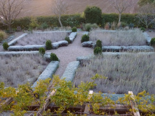 December, the formal beds from above