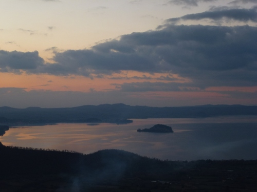 A view of Lake Bolsena on a cold crisp January day