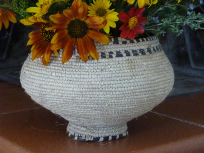 Tightly woven basket from Eritrea